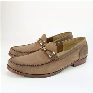 Tommy Bahama Papio Brown Leather Horsebit Loafers